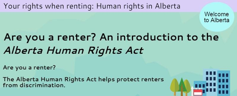 Your Rights When Renting Human Rights In Alberta Cplea