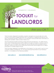 Domestic Violence Toolkit for Landlords