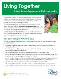 Living Together Adult Interdependent Relationships