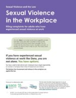 Sexual Violence in the Workplace