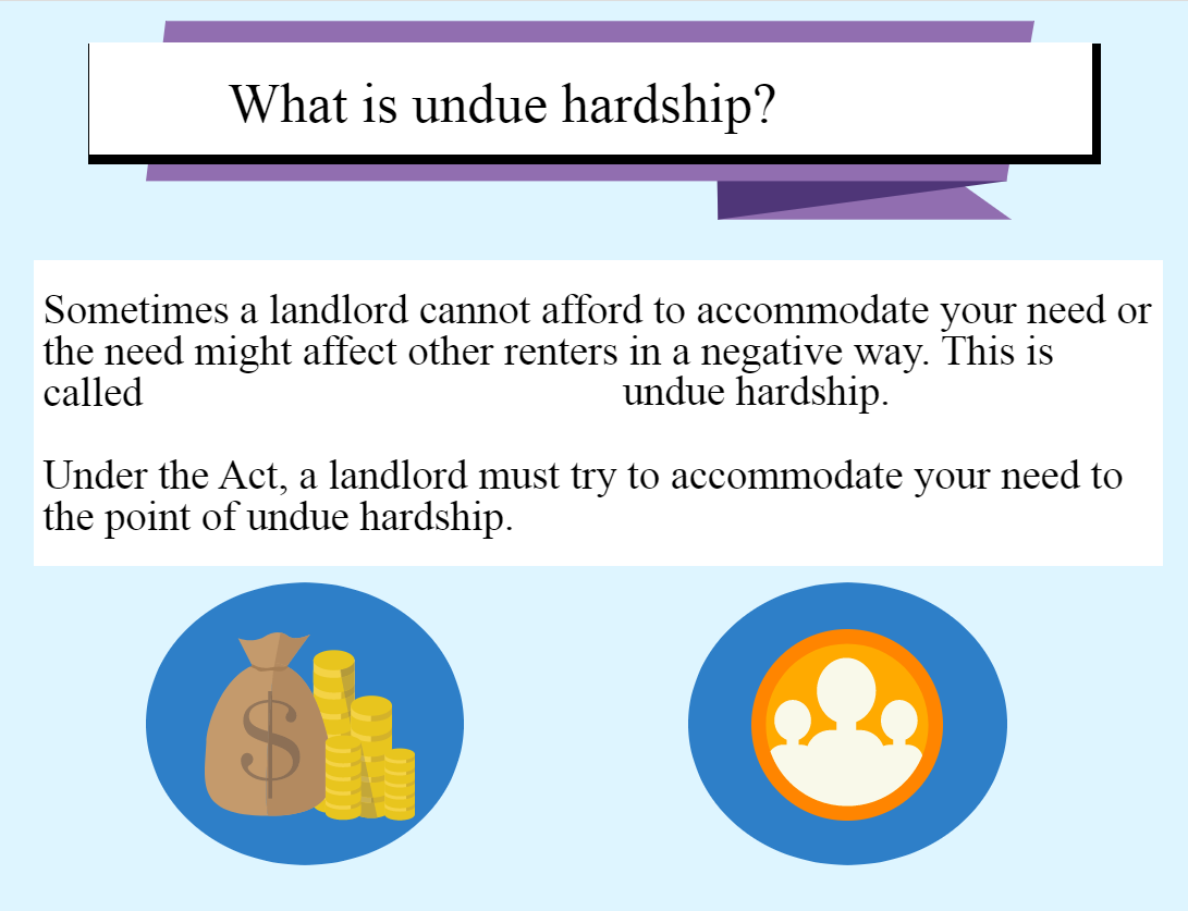 What is undue hardship?