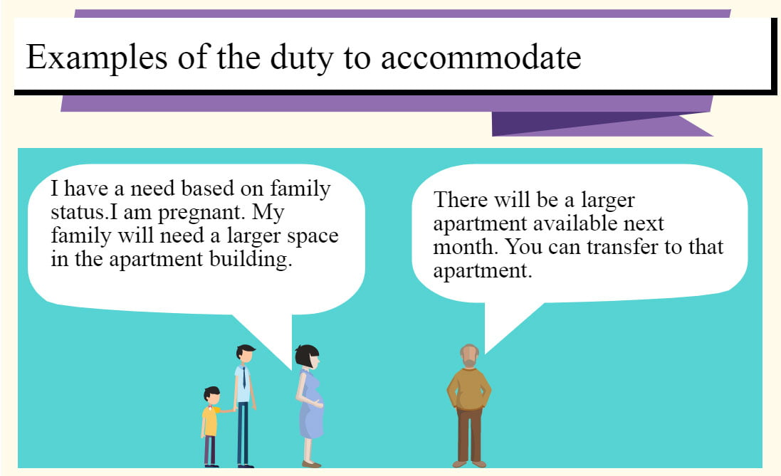 Examples of duty to acccommodate